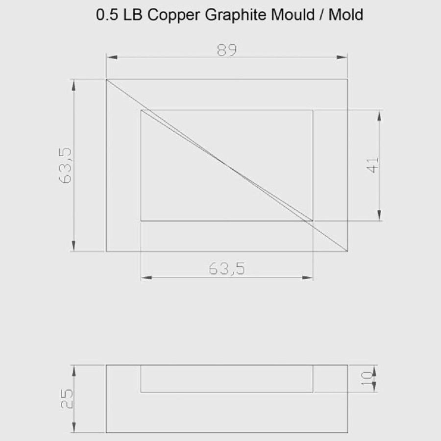 Graphite Ingot Mold For 0 5 Lb Copper Scrap Casting