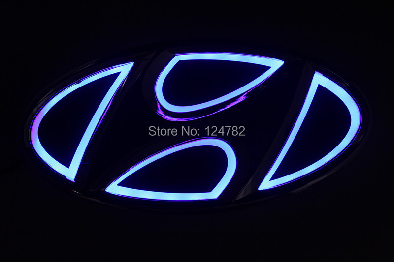 New Arrival 5d Hyundai Car Badge Light For Ix35 I30 Sonata Tucson