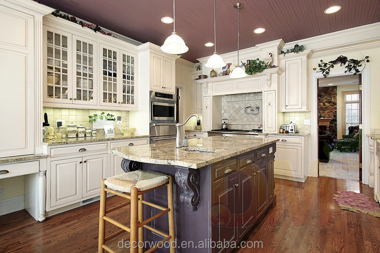 America Solid Wood Kitchen Cabinet / Rta Ready To Assemble
