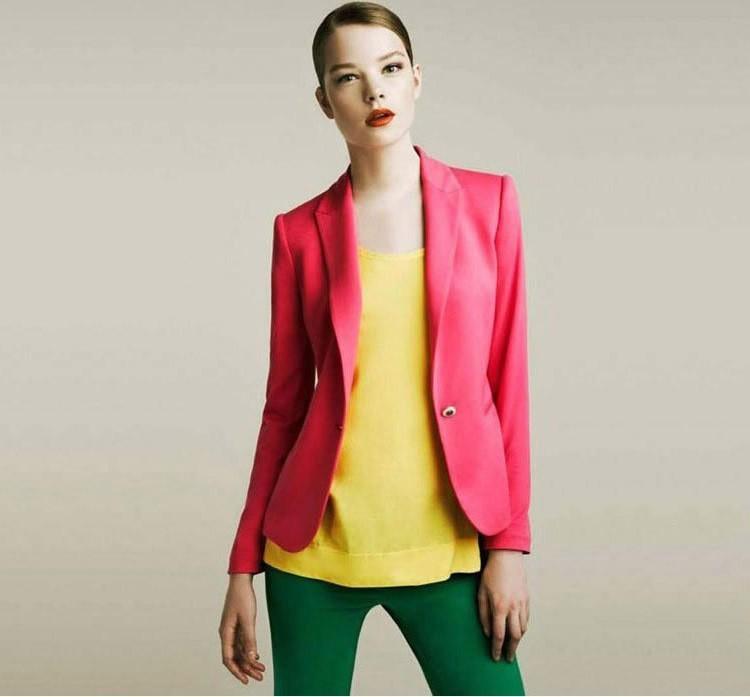 NOWY blazer kobiety kostiumu blezer składana marka kurtka wykonana z bawełny i elastanu z podszewką Vogue odśwież blazers 5
