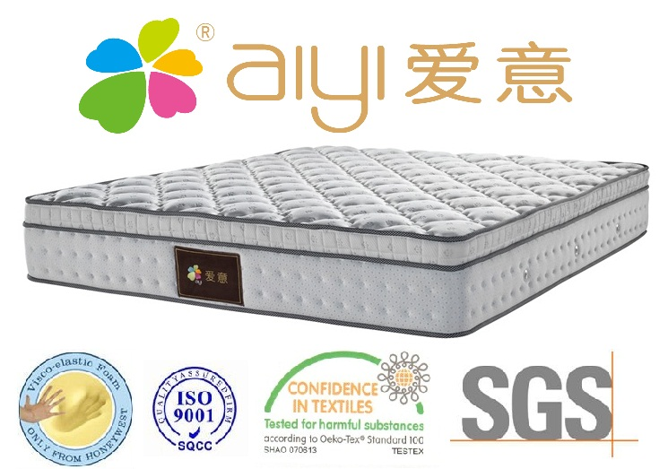 Spine Support Deluxe King Size Pillow Top Pocketed Spring Mattress Bed Mattress Sale