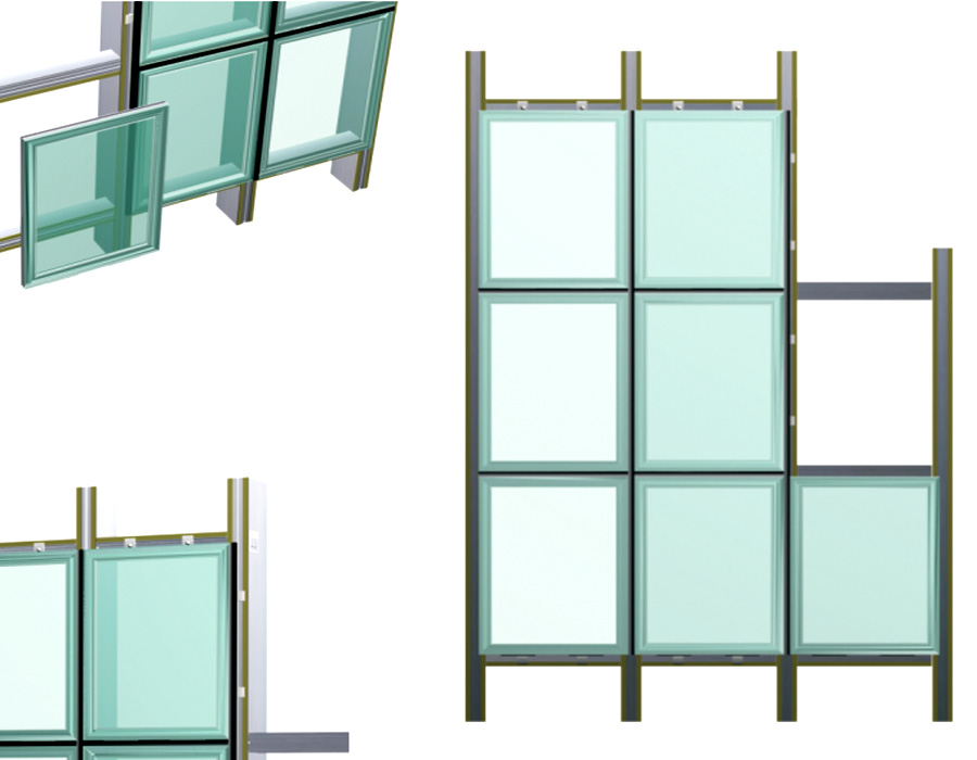 frame curtain wall/one way vision window film for glass curtain wall