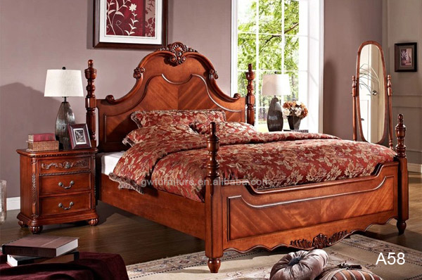 Luxury King Size Bed High End Classical Bedroom Furniture