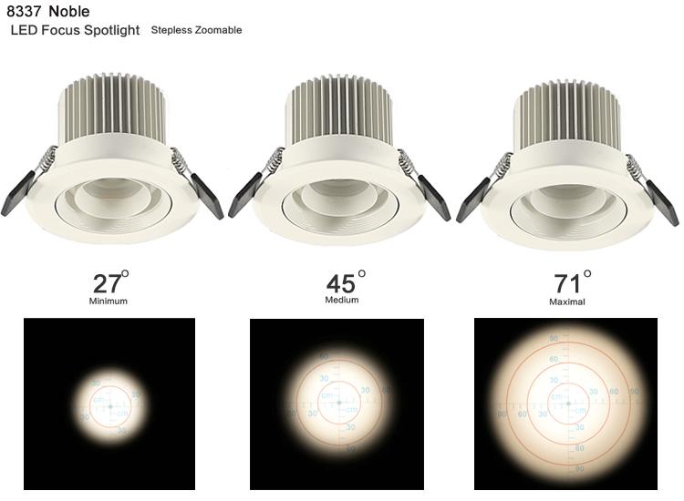 4w Cob 4inch Led Recessed Spot Lighting Trim Retrofit For