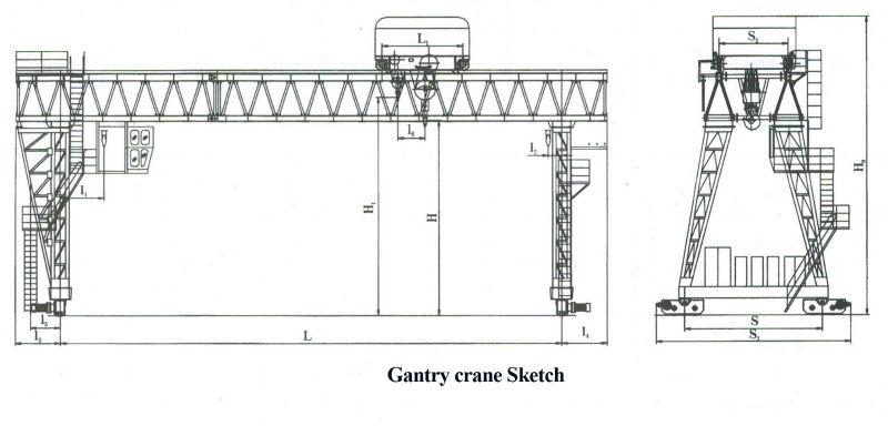 portable small gantry crane prices