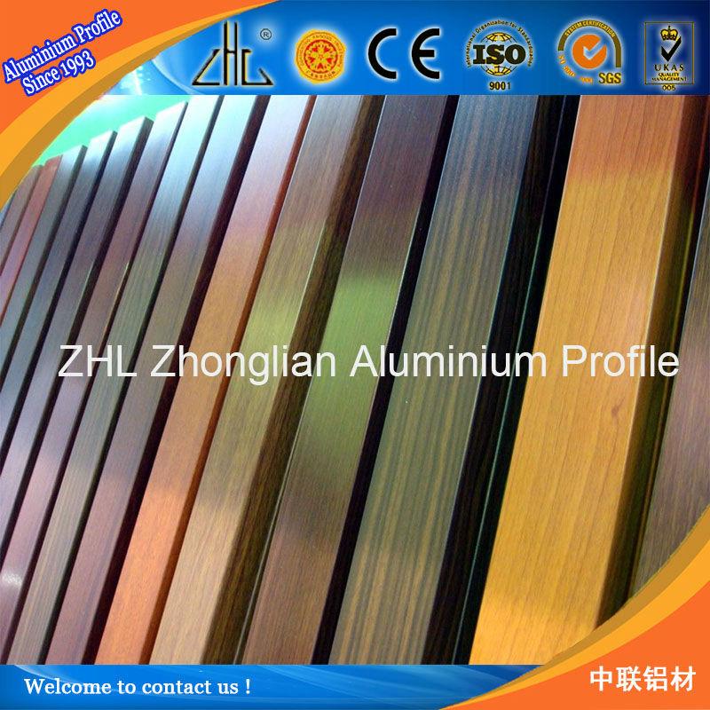 New Coated Wood Grain Aluminium Profile Aluminum Wood