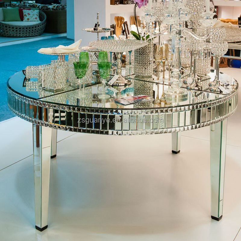 Large Round Mirror Dining Table View Modern Mirror Dining