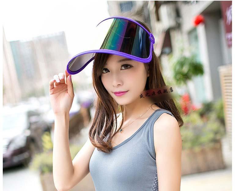 4a14c0c9844 2019 Wholesale Outdoor Plastic Sun Visor Hat UV Protection Golf ...