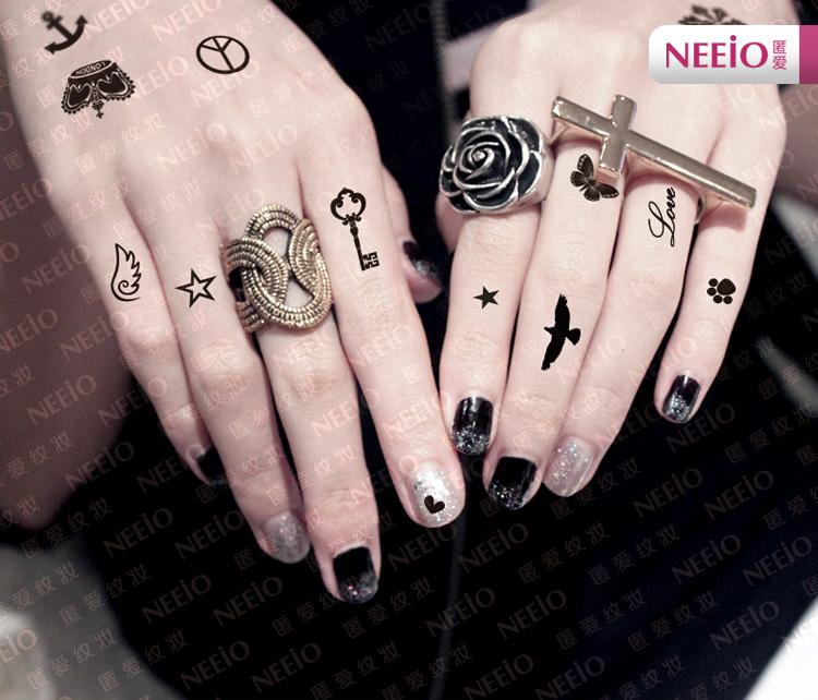 Grosshandel Vorubergehende Tattoos Kronen Herzschadelsonnenstern