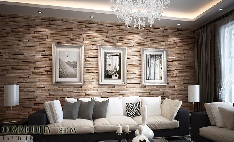 living room brick wallpaper - photo #15
