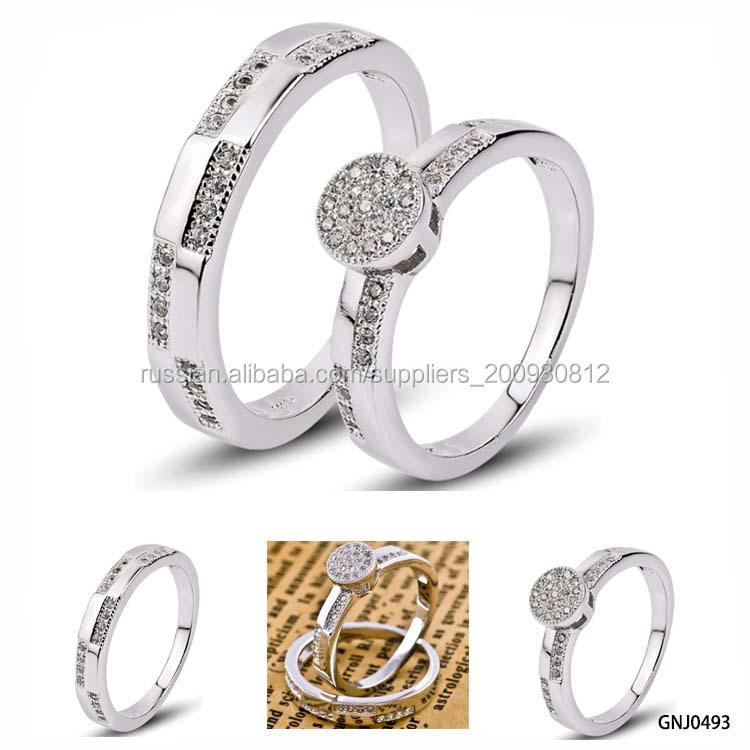 Три штук Серебряные кольца в комплекте 76ca88acca1dd