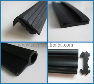 Epdm Extruded Door Weather Seal Rubber Strips With Sf