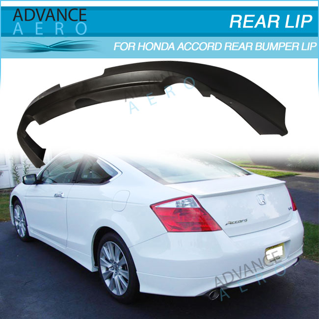 for 08 12 honda accord 2dr coupe hfp style poly urethane rear bumper lip spoiler body kits buy. Black Bedroom Furniture Sets. Home Design Ideas
