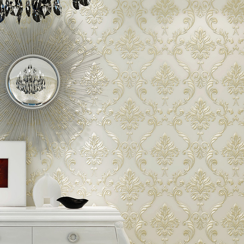 Paysota Modern Simple Solid Color Yellow Wallpaper Bedroom: Damask Wallpaper Promotion-Shop For Promotional Damask