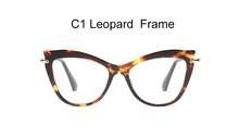 Женские очки с кошачьими глазами, ретро очки без диоптрий, оправа для очков, женская прозрачная оправа для очков, очки для женщин, металличес...(Китай)
