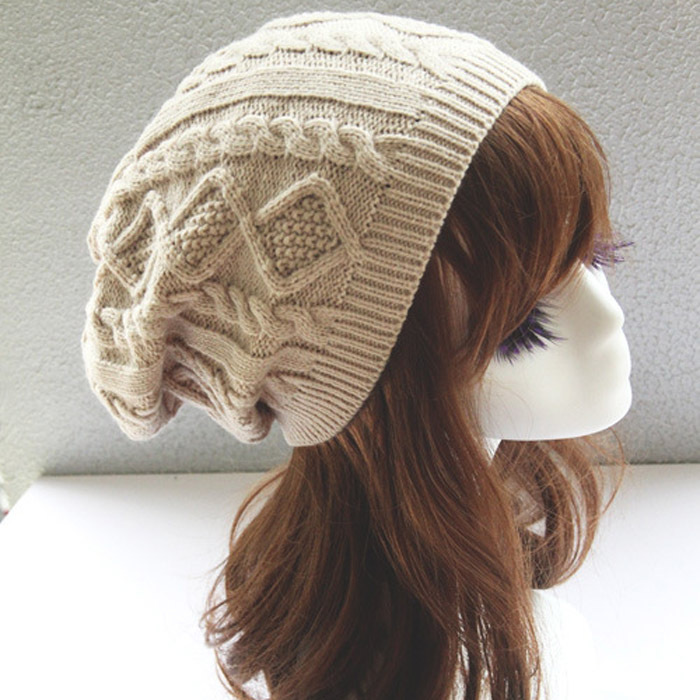 Fashion Hats Twist Pattern Beanies Winter Gorros for Female Knitted ...