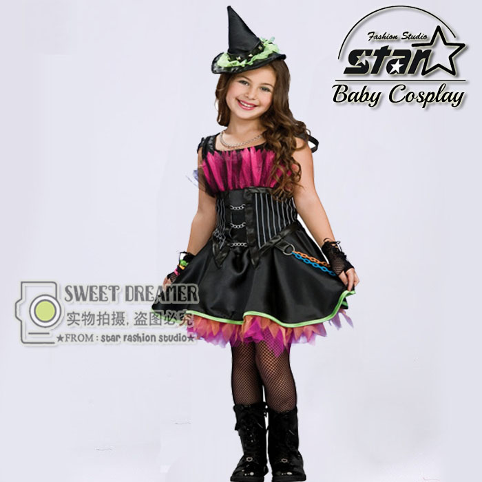 Hot Sale Witch Costume font b Fancy b font font b Children b font Halloween Costume