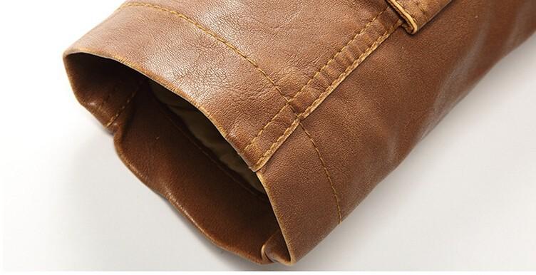 Großhandel PU Lederjacke Männer Lange Wolle Leder Stehkragen Jacken Mantel Outwear Trench Parka Herren Jacken Und Mäntel Von Humphray, $65.95 Auf