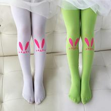 Baby Girl's Stockings Fashion Tight Solid Cute Bunny Pattern Children Girls Kids Stockings 6 Colors