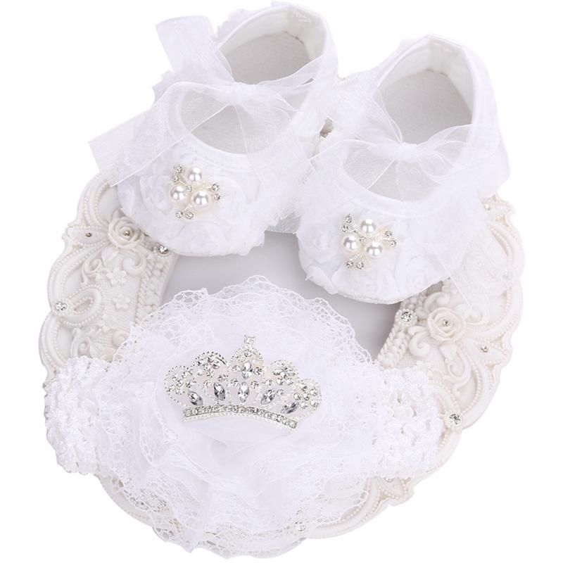 Detail Feedback Questions about Baby Shoes Girls Newborn Summer Headband  Set Girls Shoes Kids Heels 2017 Princess Wedding Christening Baby Moccasins  Toddler ... 863c932e8d43