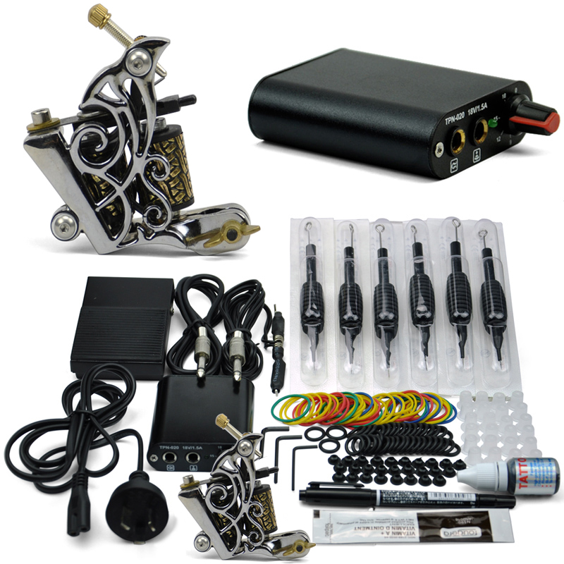 professional tattoo kit 1 tattoo guns cheap 8 wrap coils pigment induction complete tattoo. Black Bedroom Furniture Sets. Home Design Ideas