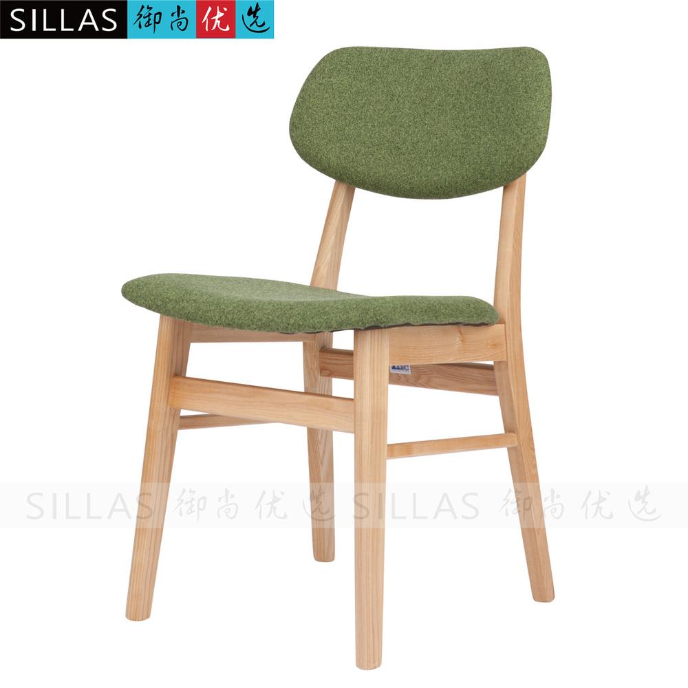 Fabric Chair Dining Chair Wood IKEA Home Korean Restaurant