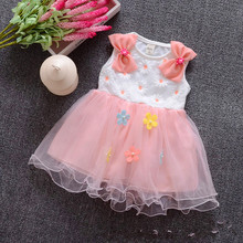 girl dress 2016 summer floral baby girl dress princess tutu dress 5 color for 1-4 age infant dresses kids clothing