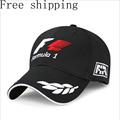 Black Racing Cap Formula 1 Embroidered Letters Wheat F1 Formula Golf Cap Snapback Baseball Cap Casquette