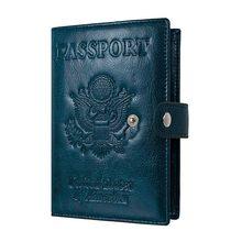 Роскошный Твердый чехол для паспорта для мужчин и женщин из России и США, чехол для загранпаспорта A609, чехол для проездного паспорта для муж...(Китай)