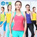 Qingniao professional women yoga sets summer breathable sleeveless bosu yoga running meditation yoga gym sport clothing