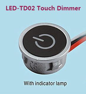 hot 3way dimmers 12v touch led dimmer for led lighting input 8vdc 24v dc constant current max. Black Bedroom Furniture Sets. Home Design Ideas