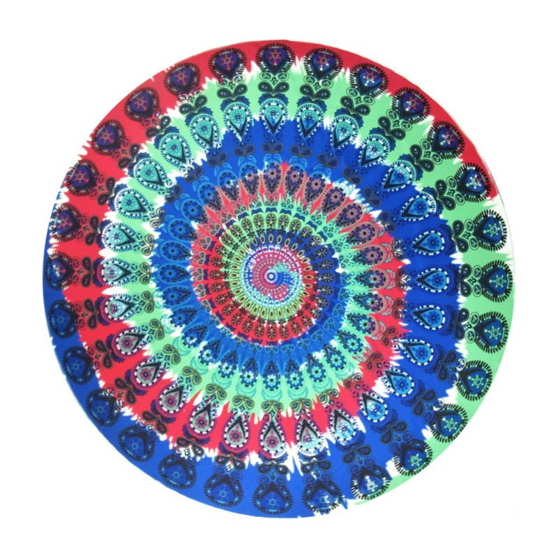 150 150cm Women Indian Peacock feather Printed Mat Round ... 5526b3fd9134