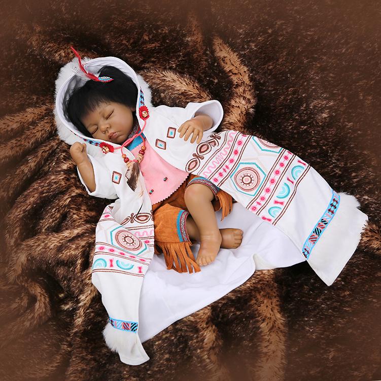 53cm Simulation Doll Native American Indian Reborn Baby