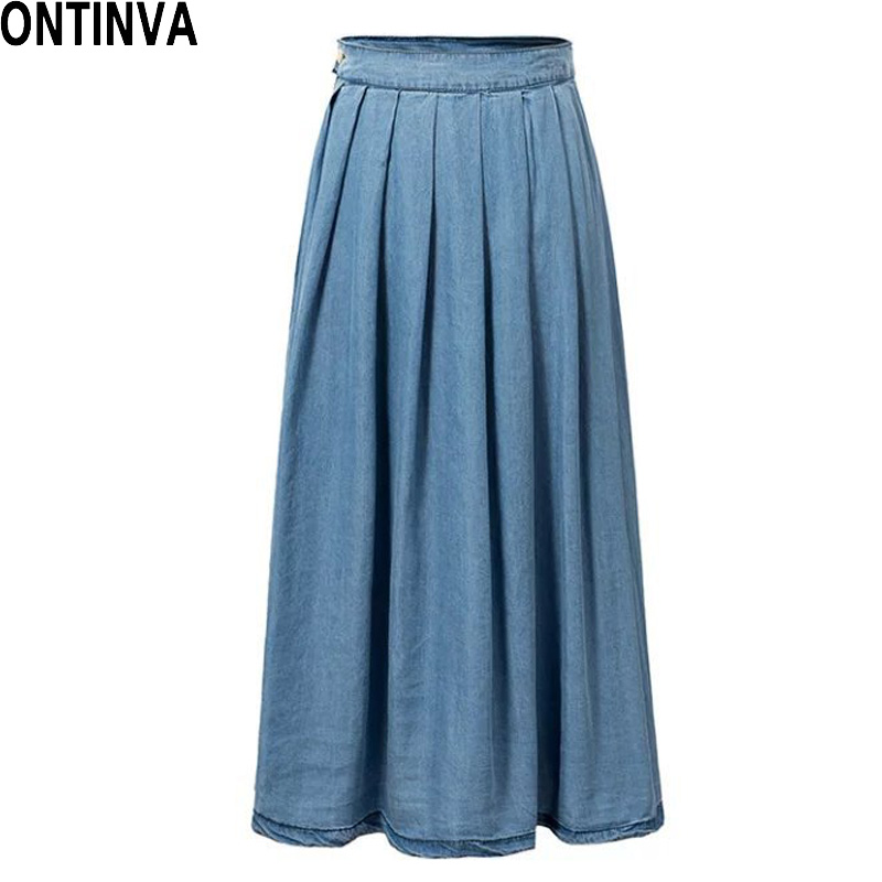 Women's Maxi Pencil Jean Skirt- High Waisted A-Line Long Denim Skirts for Ladies- Blue Jean Skirt. by Skirt BL. $ - $ $ 27 $ 38 99 Prime. leggings for women skirts long for women cheap skirts low waist HGWXX7 Women Casual Loose Sliod Pockets Short Sleeve O Neck Long Party Dress. by HGWXX7. $
