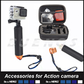 Small bag and Float Monopod For Gopro hero 3 Hero 4 Action Camera Accessories Set For