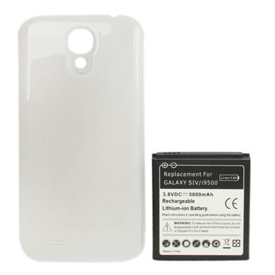 5800 мАч замена аккумулятор мобильного телефона и крышка задней двери для Samsung Galaxy S 4 / i9500