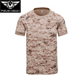 Brand T shirt Mens coolmax quick dry Breathable Non fold Short Sleeve Tshirt Hiking fishing Military
