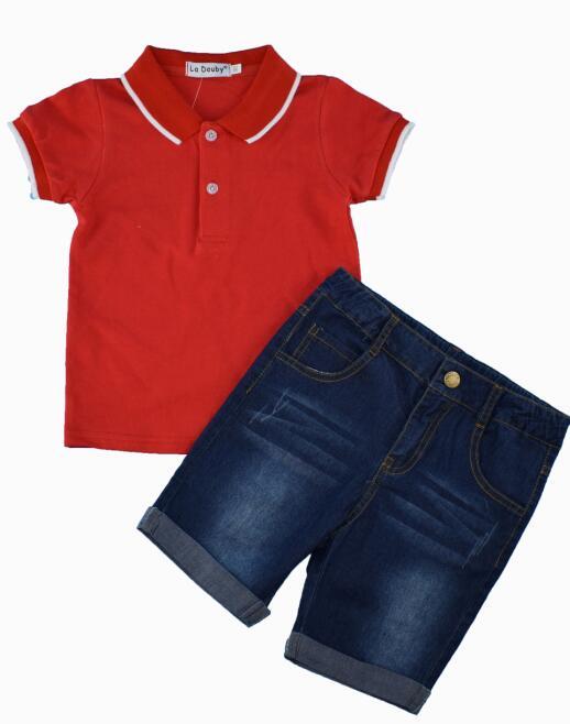 HOT children baby boys short clothes suits set kids gentleman summer shirt boys suit