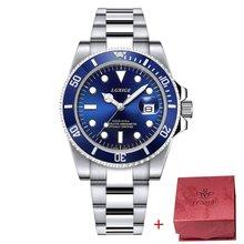 Полностью стальные мужские часы, Топ бренд, роскошные часы для мужчин, мужские часы, 50 м, ролевые спортивные наручные часы, 2018, Rolexable relogio masculino(Китай)