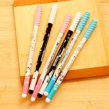 12 pcs/lot Cute Cartoon spiral Ballpoint pen for kids 0.5mm Blue Ball Pen Kawaii Stationery School Office Writing Supplies