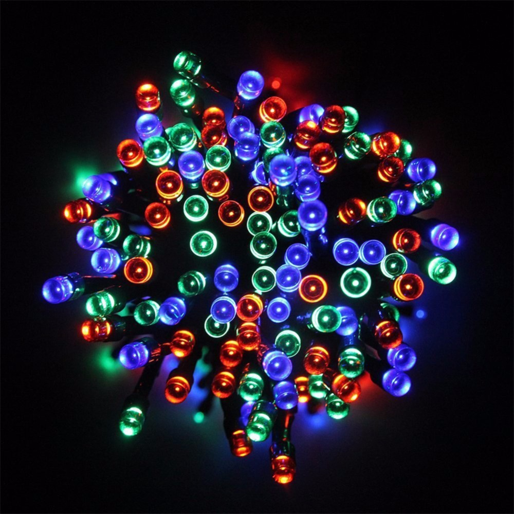 Solar Outdoor String Lights By Innoo Tech: Solar Holiday Lights 12M 100LED Waterproof Multicolor