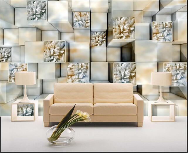 custom 3 d pierre papier peint marbre relief pour le. Black Bedroom Furniture Sets. Home Design Ideas
