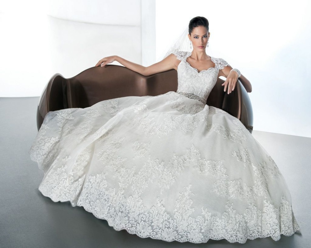 Ivory Ball Gown Wedding Dress: Vestido De Noiva 2014 Sexy Ball Gown Princess Wedding