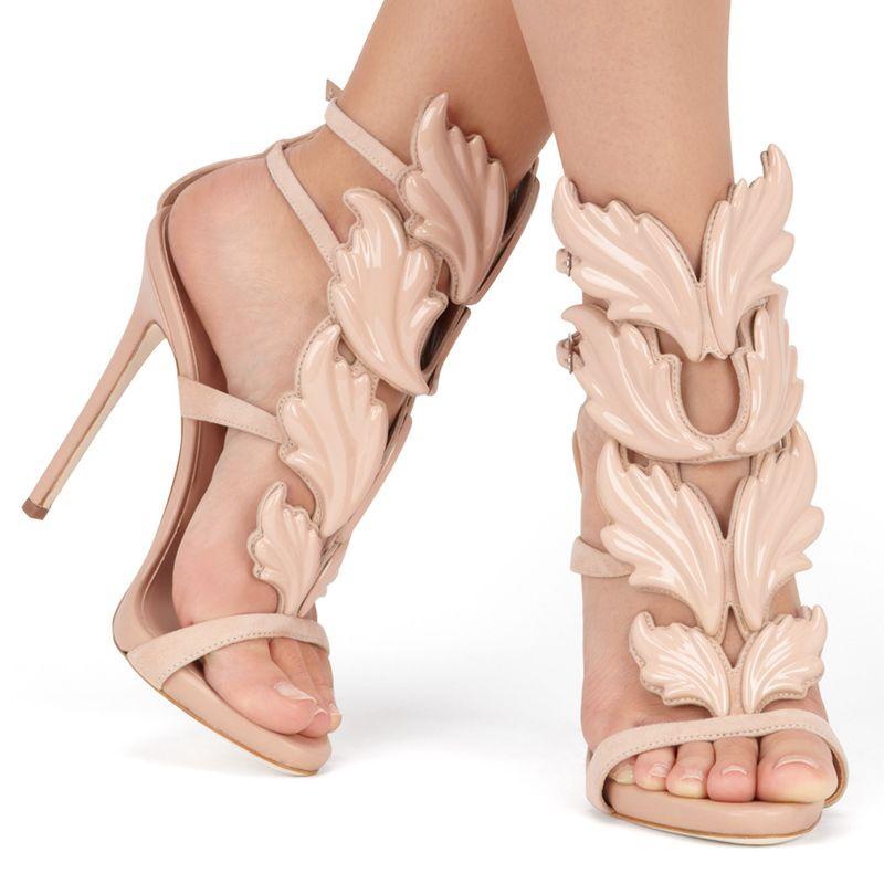 7cc79eca4 Detail Feedback Questions about 2017 fashion high heels swing leaf ...