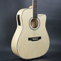 Electro Acoustic Electric Folk Pop Flattop Guitar 41 Inch Guitarra 6 String Basswood White Light Built