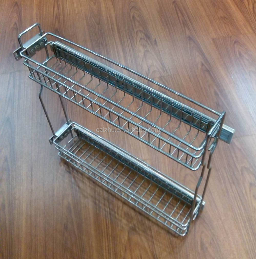 Kitchen Cabinet Baskets: Kitchen Cabinet Drawer Kitchen Pull Out Basket Organizer