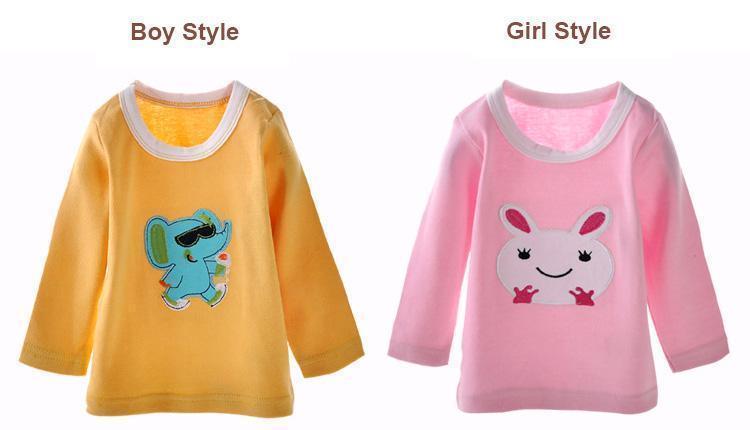 Darol новый ребенок хлопок футболки с длинными рукавами хлопка майка горячая распродажа мультфильм вышивать дети одежда