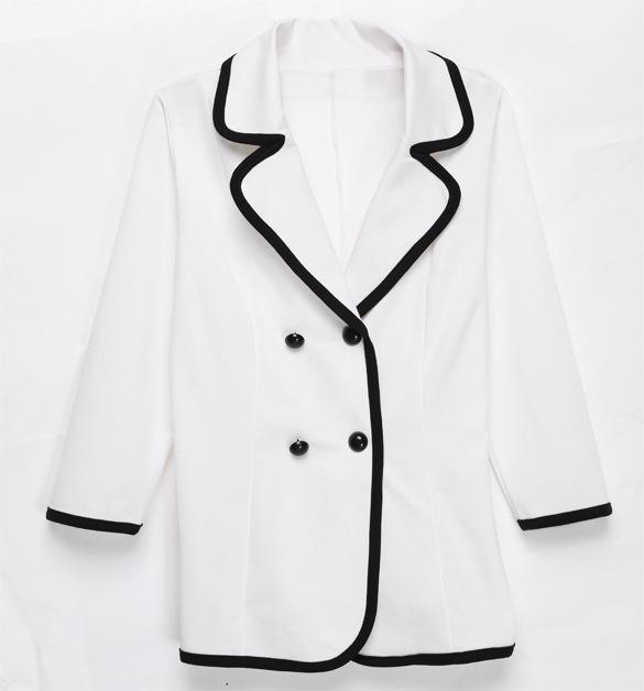Пиджак подходит женщинам 2015 однобортный зубчатый воротник полный рукавами роковой куртка Feminino пиджак пиджаки женщины костюм S-XXL C030