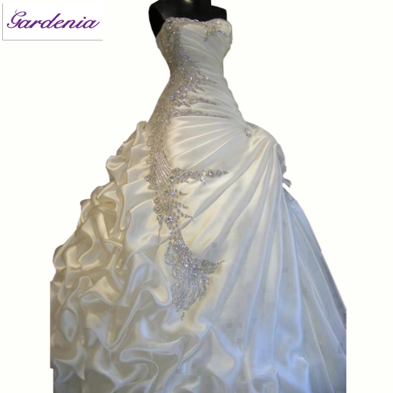 Luxurious Wedding Dress High Quality Ball Gown Sweetheart