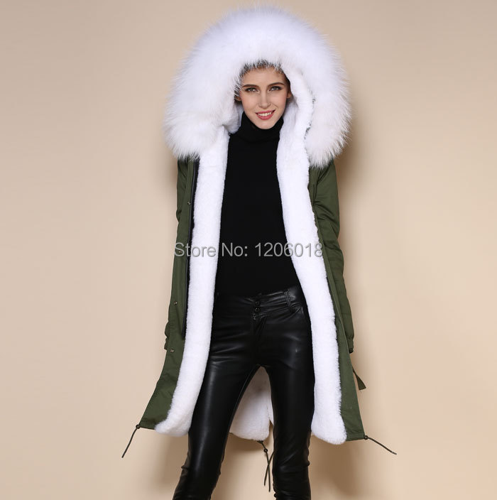 Fur Hood Parka Coat Coat Nj